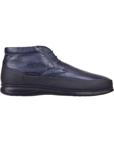 Кожаные ботинки осенние синий Pakerson