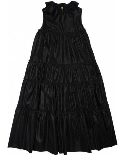Черное платье на молнии Mi.mi.sol.