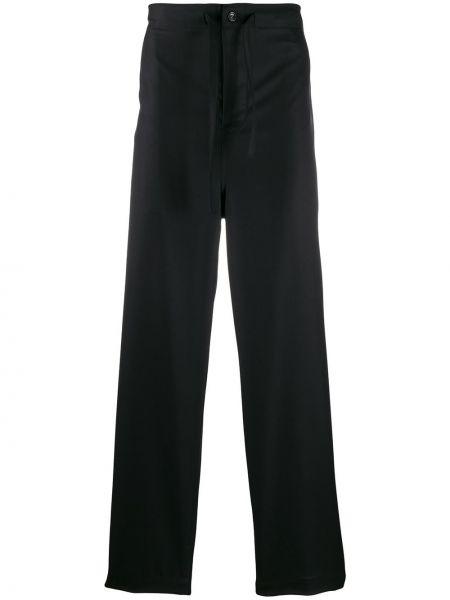Czarne spodnie z wysokim stanem wełniane Comme Des Garcons Homme Plus