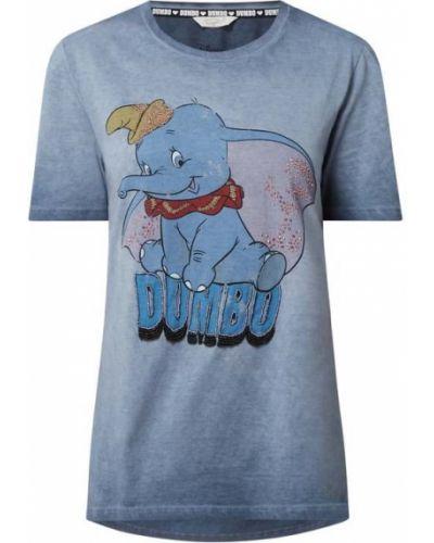 Niebieski t-shirt bawełniany z printem Frogbox