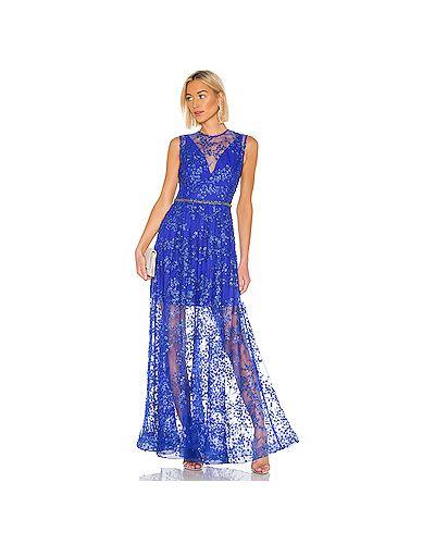 Вечернее платье с бисером синее Bronx And Banco