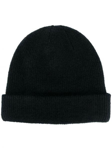 Trykotowy kapelusz czarny Acne Studios