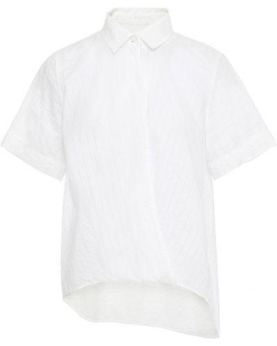 Biała koszula bawełniana w paski Rag & Bone