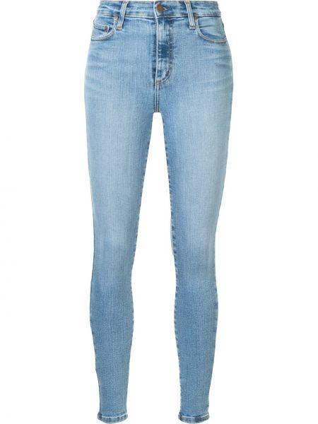 Хлопковые синие джинсы с высокой посадкой с поясом на молнии Nobody Denim