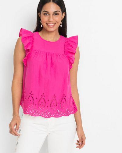 Розовая кружевная блузка Bonprix