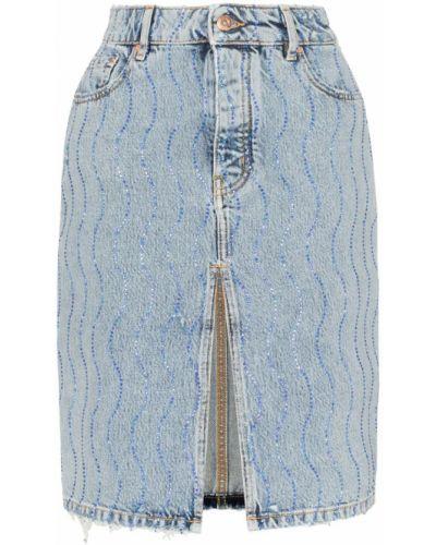 Джинсовая юбка с завышенной талией классическая Filles A Papa