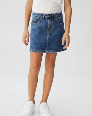 Джинсовая юбка на пуговицах Mango Kids