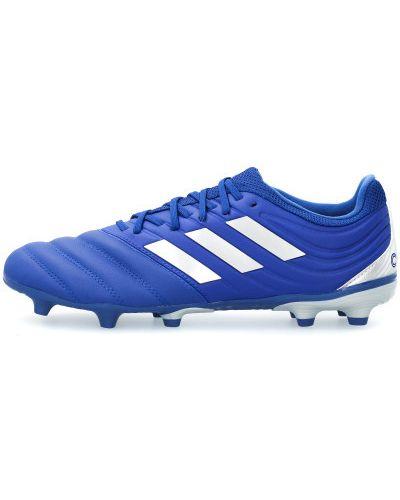 Кожаные футбольные бутсы на шнуровке Adidas