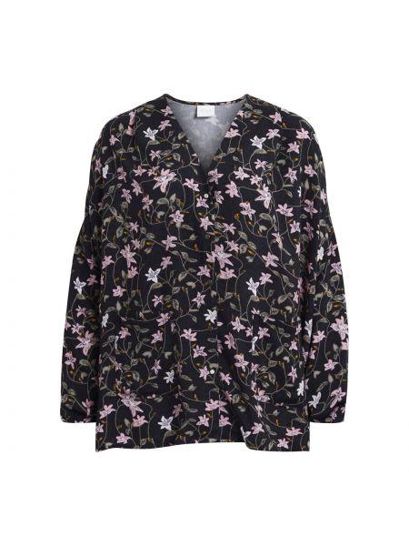Блузка с длинным рукавом длинная из вискозы Vila