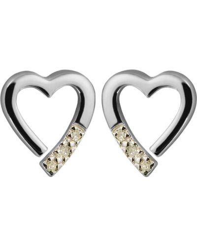 Серебряные серьги серьги-гвоздики с бриллиантом Hot Diamonds