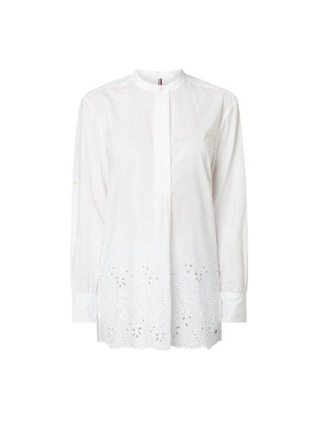 Bluzka z długimi rękawami z haftem bawełniana Tommy Hilfiger