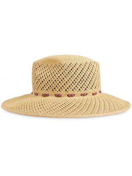 Szeroki kapelusz beżowy Gucci