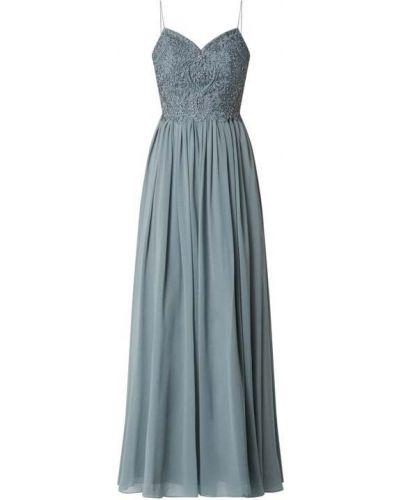 Zielona sukienka wieczorowa rozkloszowana tiulowa Laona