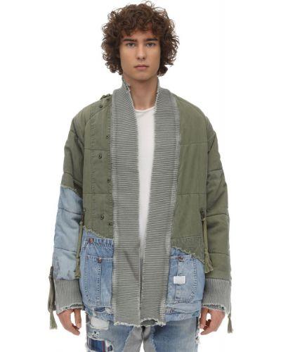 Зеленая джинсовая кофта Greg Lauren