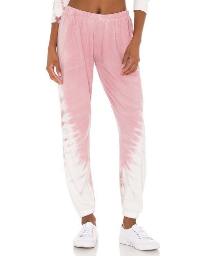 Różowe joggery bawełniane Spiritual Gangster