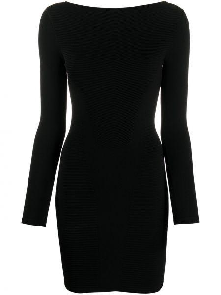 Облегающее черное платье мини с вырезом Dsquared2
