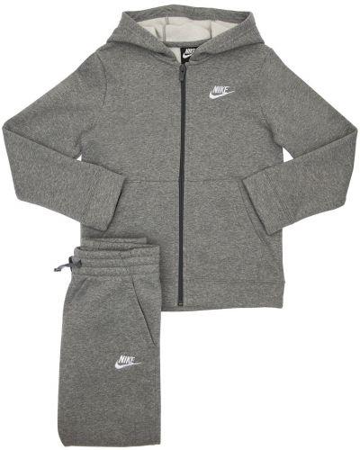 Joggery z haftem bawełniane Nike