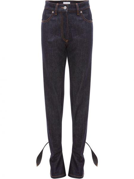 Хлопковые синие джинсы на пуговицах Jw Anderson