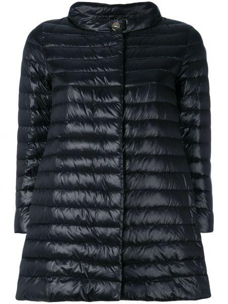 Długi płaszcz pikowana z kieszeniami Herno
