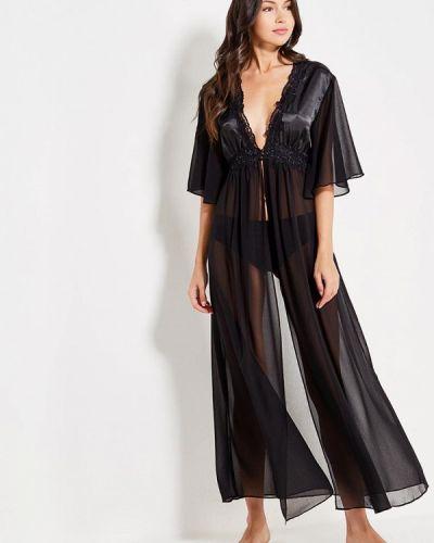 Черный домашний халат Mia-mia