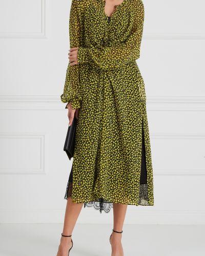 Платье миди с V-образным вырезом со складками Dorothee Schumacher