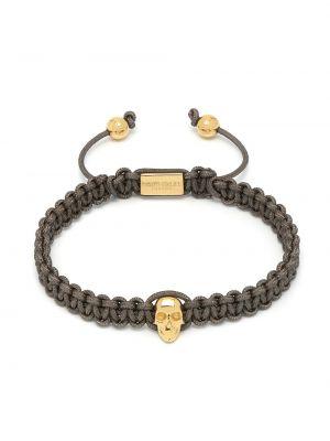Серебряный золотой браслет позолоченный с черепами Northskull