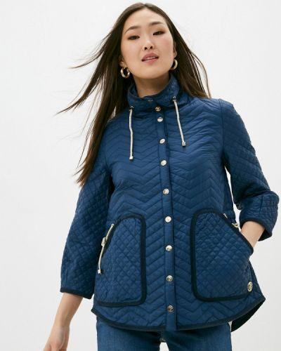 Утепленная синяя куртка Trussardi Jeans