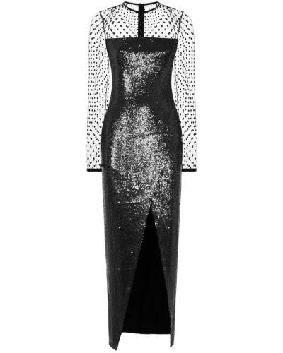 Czarna złota sukienka Balmain