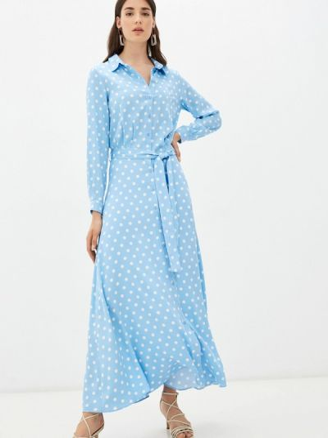 Голубое платье осеннее Trendyangel