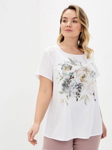Блузка с коротким рукавом белая весенний Intikoma