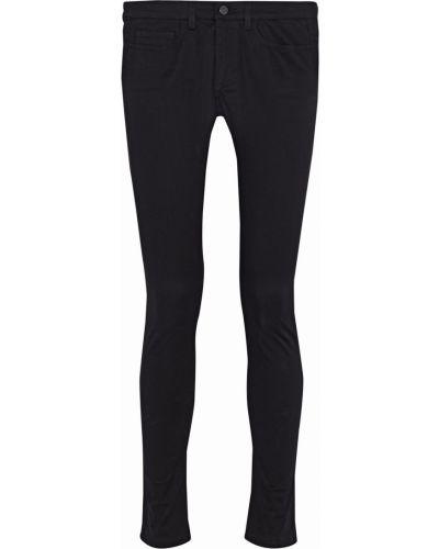 Czarne jeansy rurki bawełniane z paskiem Acne Studios