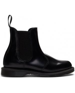 Ботинки челси черные на высоком каблуке Dr Martens