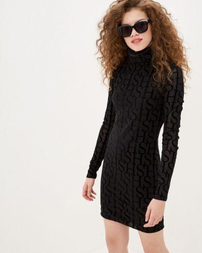 Черное платье-футляр Sh