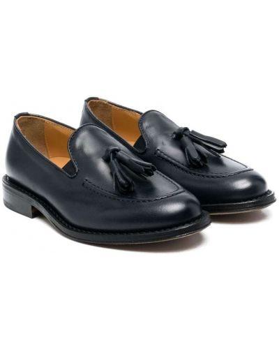Niebieskie loafers skorzane Gallucci Kids