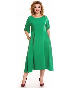 Платье миди в стиле бохо с карманами с вырезом круглое Novita