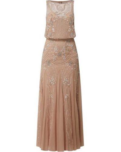 Sukienka wieczorowa z cekinami - różowa Lace & Beads