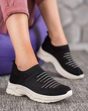 Czarne sneakersy oversize materiałowe Mckeylor