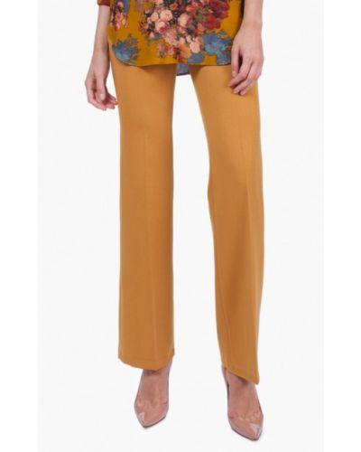 Оранжевые брюки расклешенные Vladi Collection