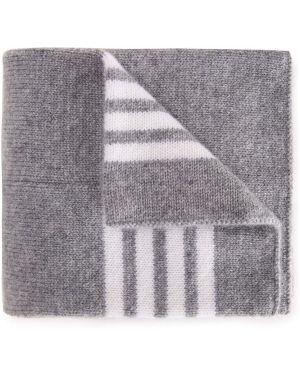 Кашемировый коричневый шарф Thom Browne Kids
