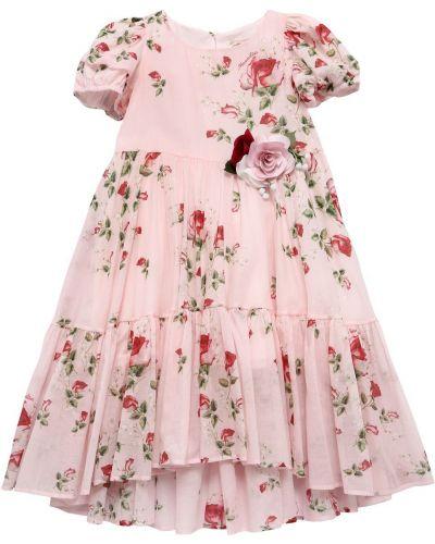 Муслиновое платье - розовое Monnalisa