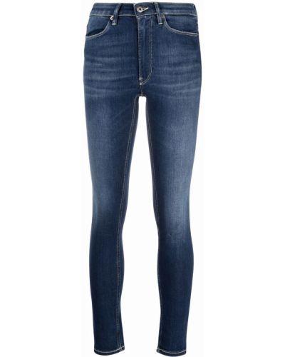 Синие хлопковые джинсы Dondup
