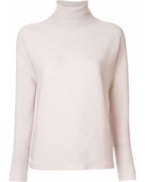 Розовый свитер в рубчик Molli