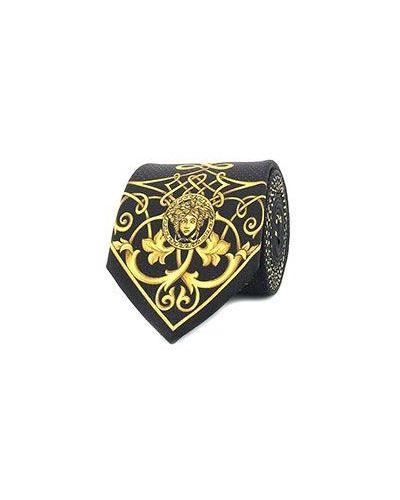 Желтый галстук Versace
