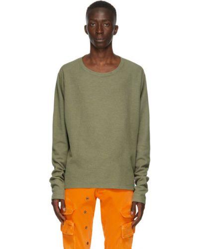 Zielona bluza z długimi rękawami bawełniana Greg Lauren