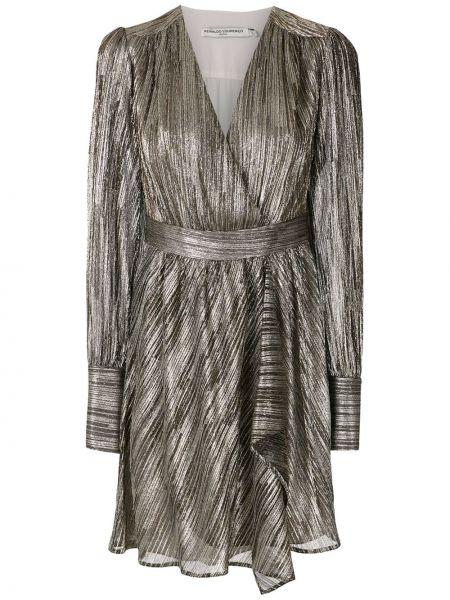Приталенное платье мини с запахом из фатина с V-образным вырезом Reinaldo Lourenço