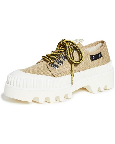 Beżowe sneakersy na platformie sznurowane Proenza Schouler