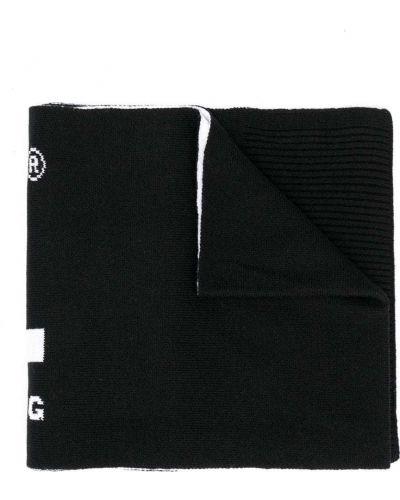 Акриловый черный шарф Diesel Kids