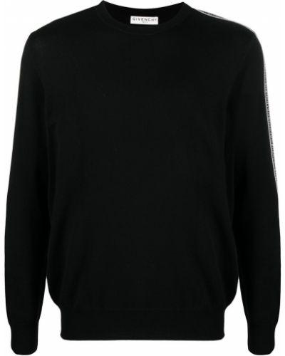 Черная кофта в рубчик Givenchy