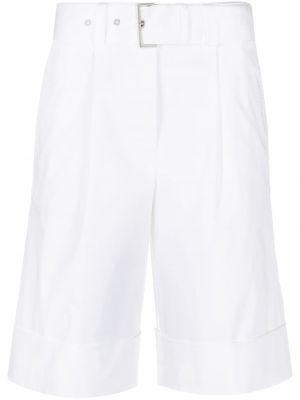 Хлопковые белые шорты с отворотом Peserico