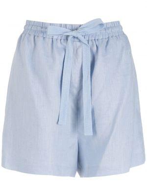 Синие льняные шорты Nk